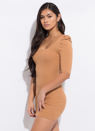 Whimsical Touch Puffy Shoulder Minidress