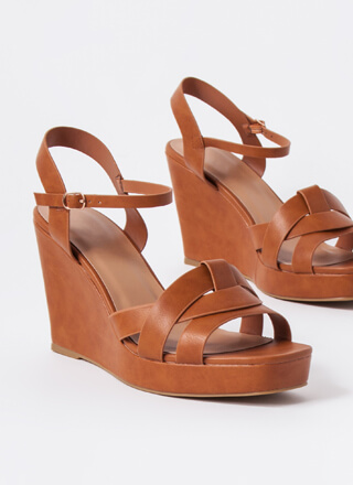 Away For The Weekend Strappy Wedges