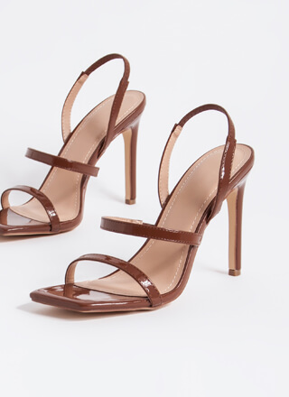 Endless Love Strappy Slingback Heels