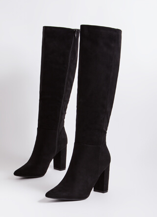 Point Blank Chunky Knee-High Boots