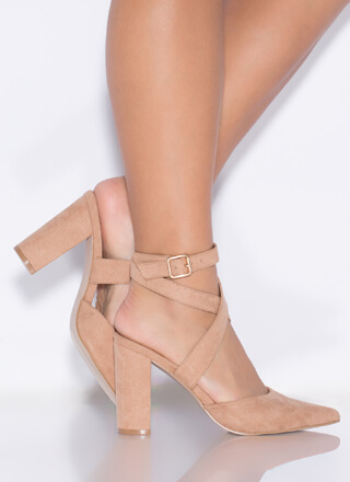 Perfect Mix Chunky Pointy Heels