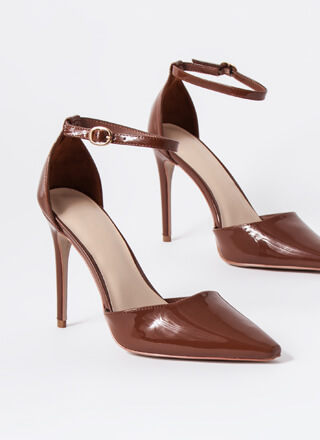 Gloss Lady Faux Patent D'Orsay Heels