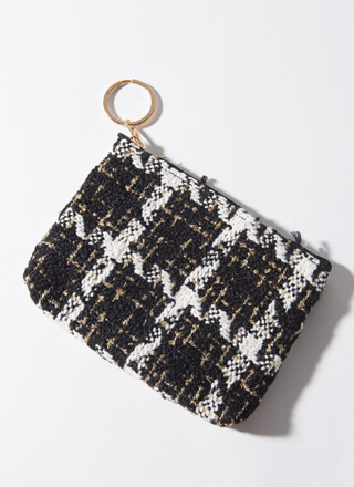 Classy Lady Tweed Coin Purse