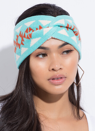 Snowflake Wrapped Patterned Headband