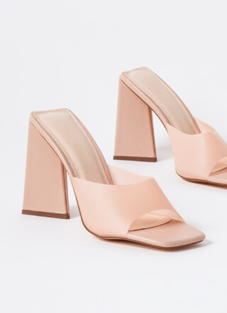 Things Are Shaping Up Chunky Mule Heels