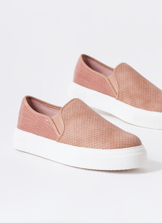 Animal DNA Perforated Slip-On Sneakers