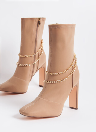 Accessorize Chained Lycra Booties