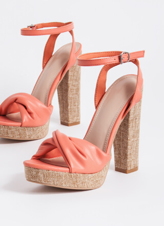 Twist And Shout Chunky Tweed Platforms