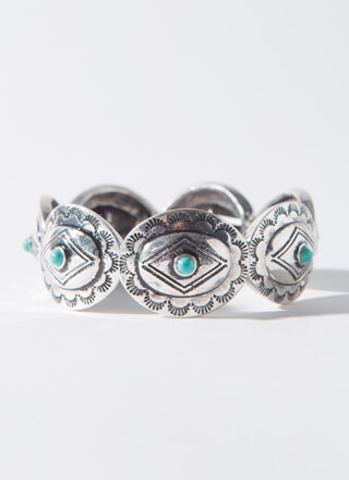 Stone Collector Stretchy Plate Bracelet