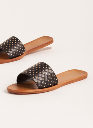 Connect The Dots Studded Slide Sandals