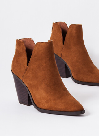 Top Notch Chunky Faux Suede Booties