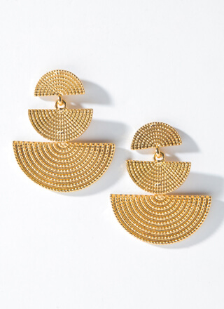 Golden Arches Textured Plate Earrings