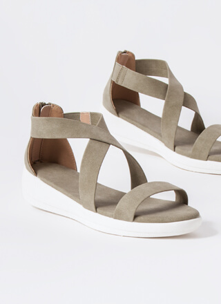 Real Style Strappy Platform Sandals