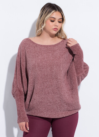 No Slouch Puffy Sleeve Dolman Sweater