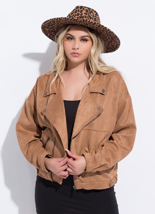 Fall Fave Faux Suede Moto Jacket