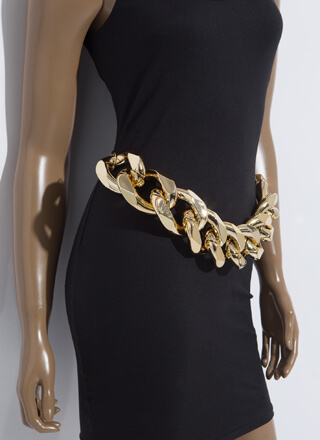Larger Than Life Giant Linked Chain Belt