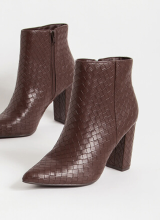 The Perfect Texture Chunky Woven Booties