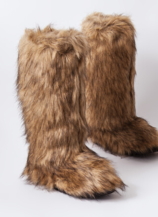 Animal Lover Shaggy Faux Fur Boots