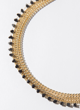 Unhidden Gems Stacked Chain Necklace