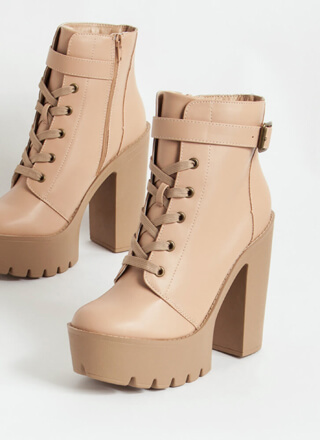 I'm Strapped Chunky Platform Booties