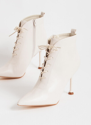Practical Magic Pointy Lace-Up Booties