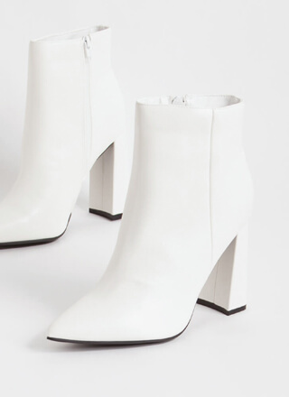 Point Of No Return Faux Leather Booties