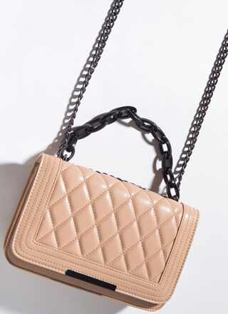 Edge Me Out Quilted Chain Strap Handbag