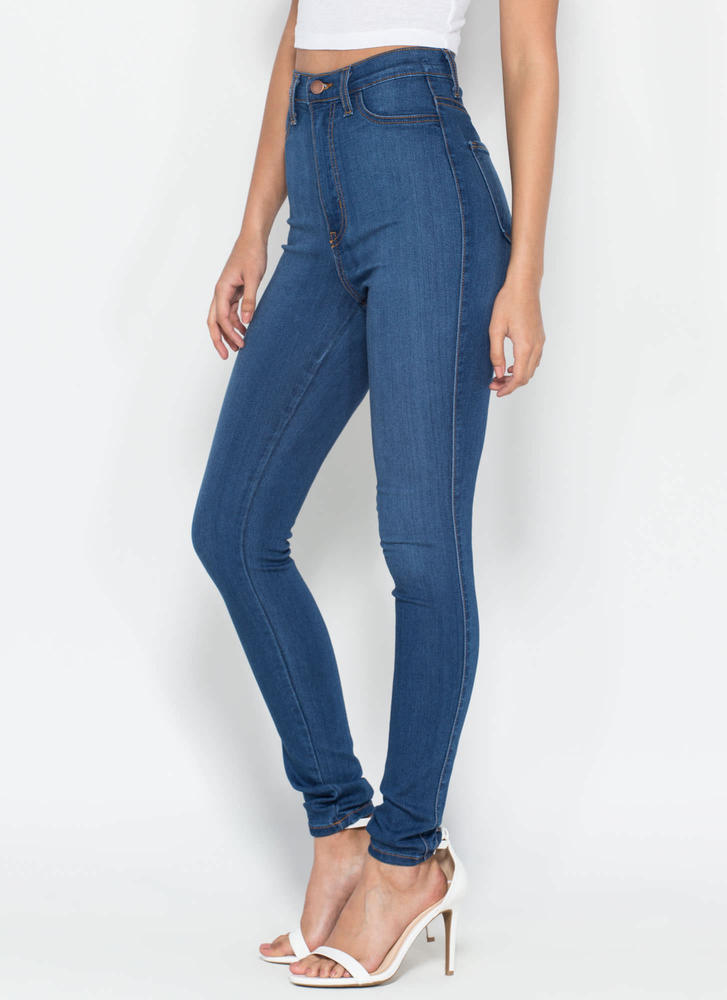 Perfectly Basic High-Waisted Jeans BLUE