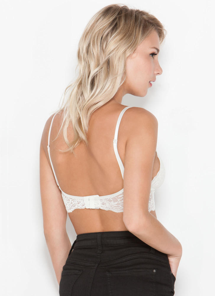 Feminine Flair Lace Bralette  IVORY (Final Sale)