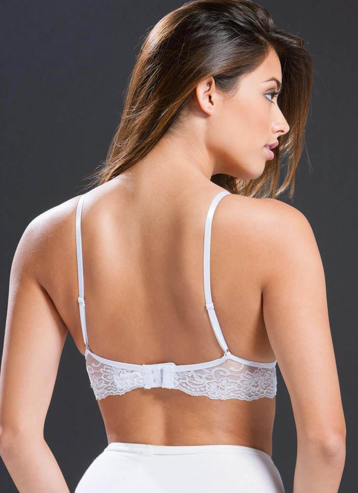 Feminine Flair Lace Bralette  WHITE (Final Sale)
