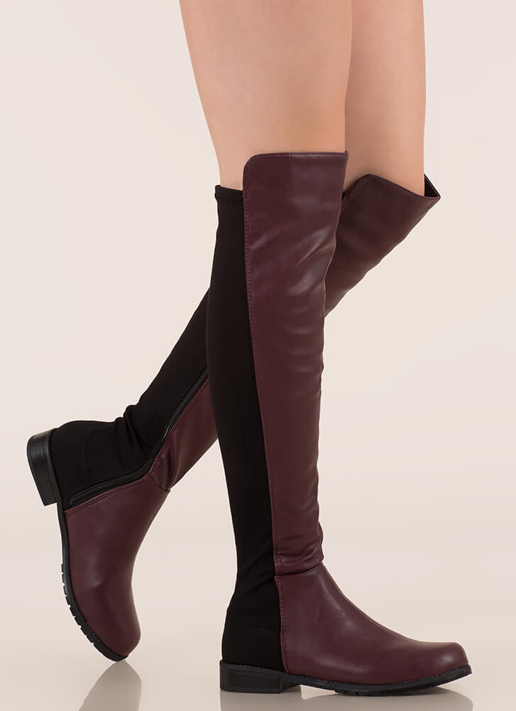 fee8b471834 Score Slim Over-The-Knee Boots LEOPARD OXBLOOD - GoJane.com