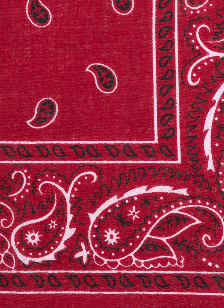 With The Band Paisley Bandana  RED