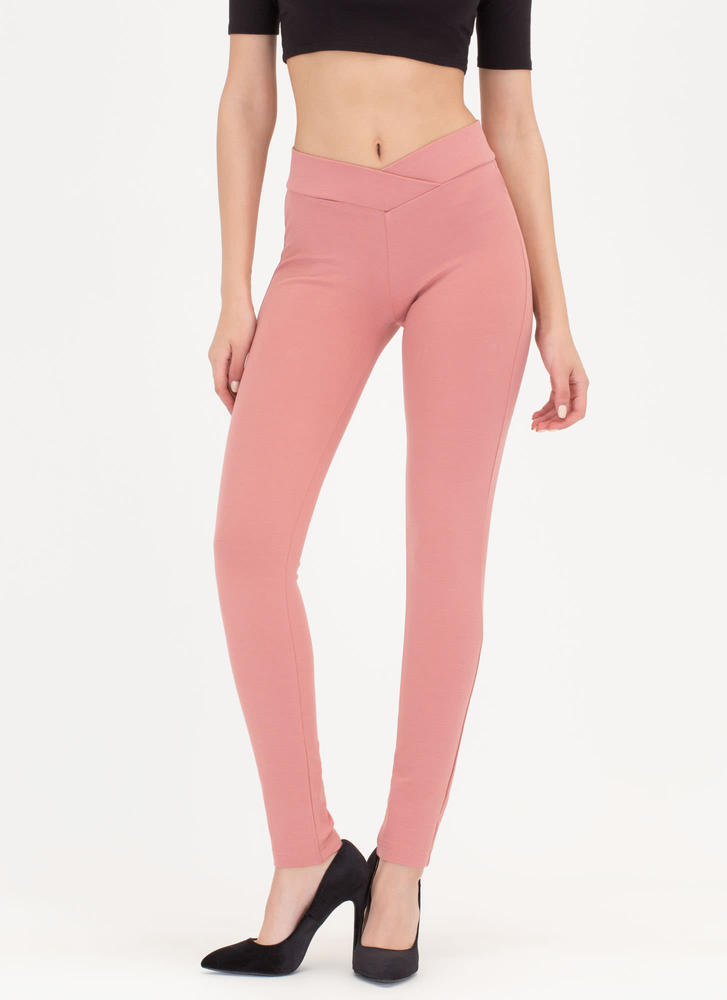 Waist Not Want Not Skinny Pants MAUVE