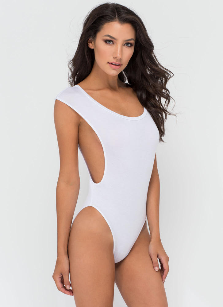 Don't Mess Muscle Body Suit WHITE