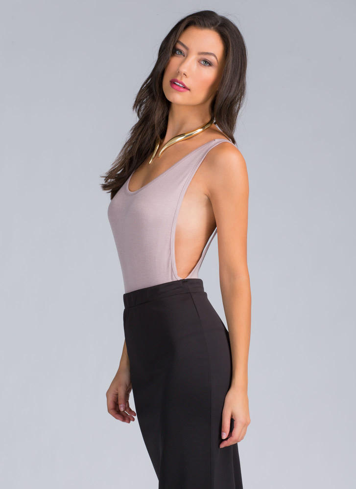 Wanted Muscle Bodysuit TAUPE