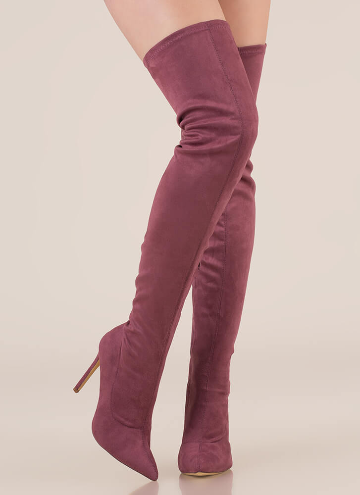 Long Story Chic Thigh-High Boots DKMAUVE