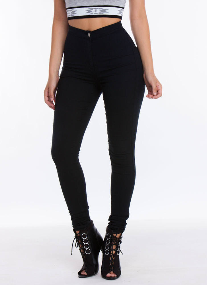 Poured Into My High-Waisted Jeggings BLACK