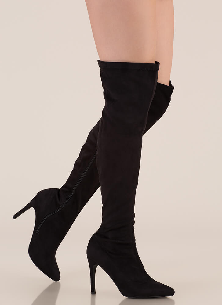 Smooth Trip Over-The-Knee Boots BLACK (You Saved $32)