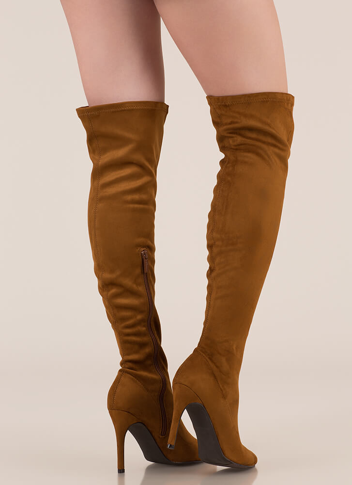 Smooth Trip Over-The-Knee Boots TAN (You Saved $32)