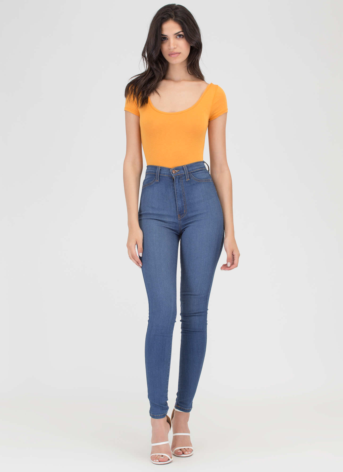 One Scoop Or Two Basic Bodysuit MARIGOLD