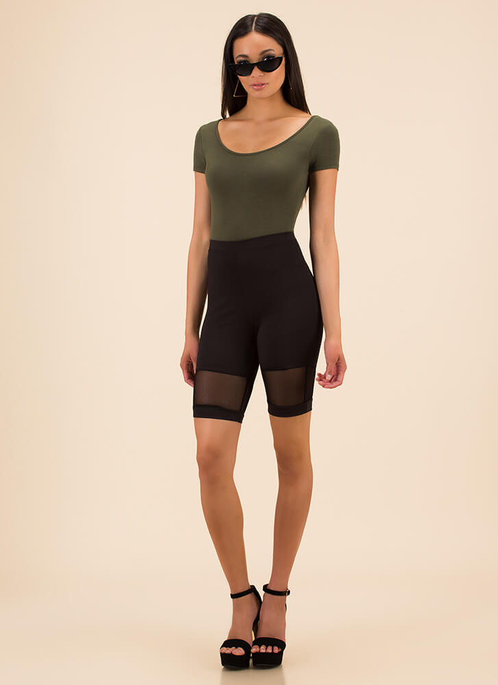 One Scoop Or Two Basic Bodysuit OLIVE