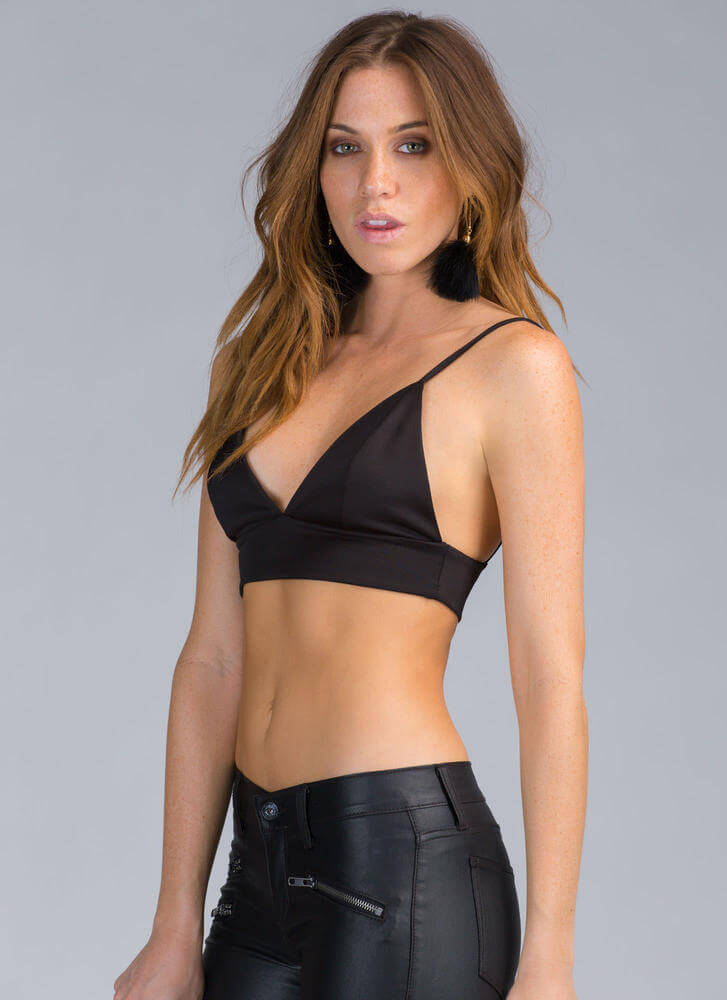 Assets On Display Strappy Bustier Top BLACK