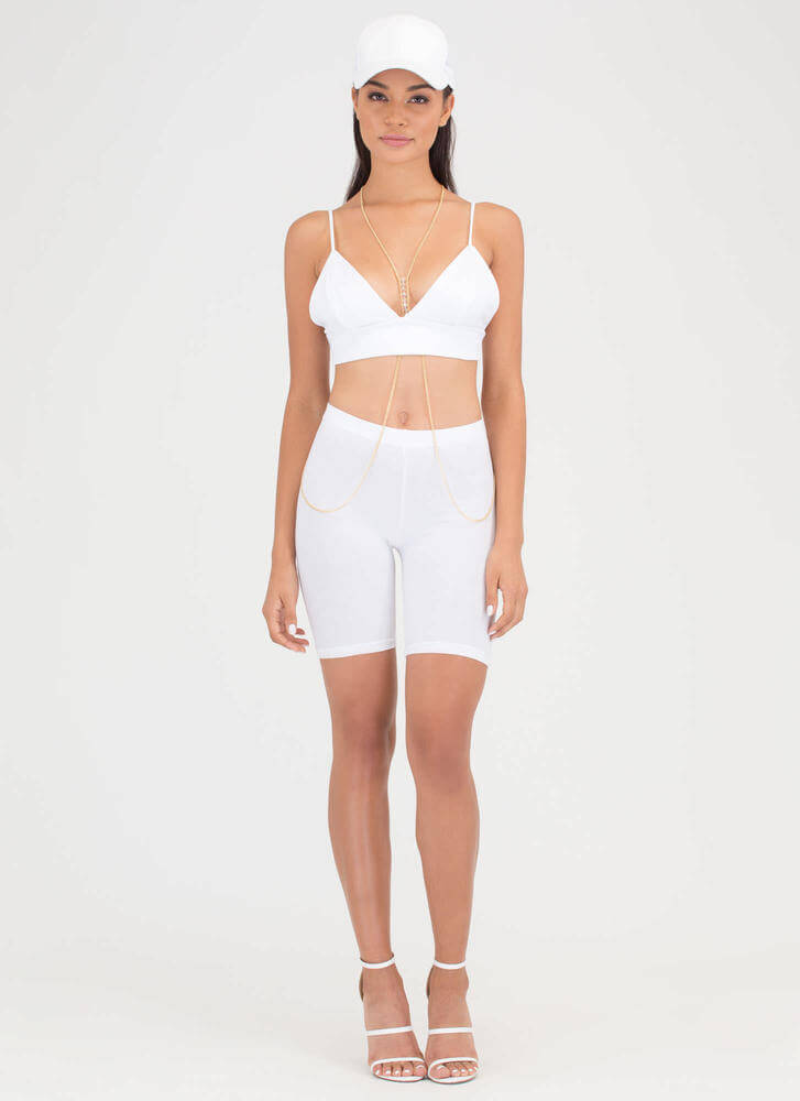 Assets On Display Strappy Bustier Top WHITE