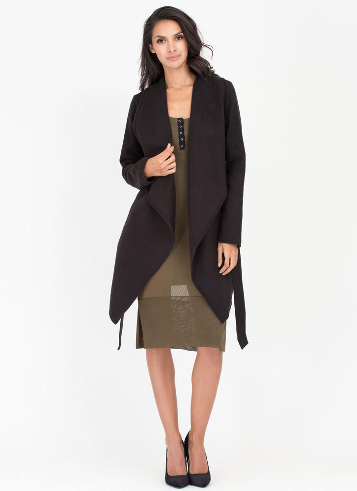 Flasher Forward Trench Coat BLACK