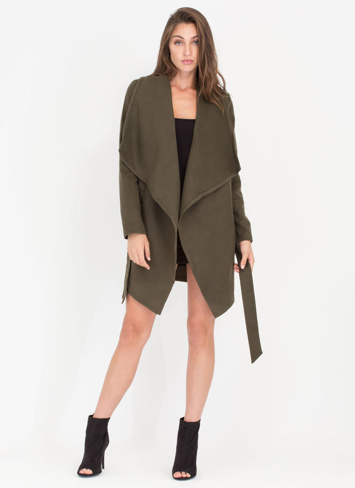 Flasher Forward Trench Coat OLIVE