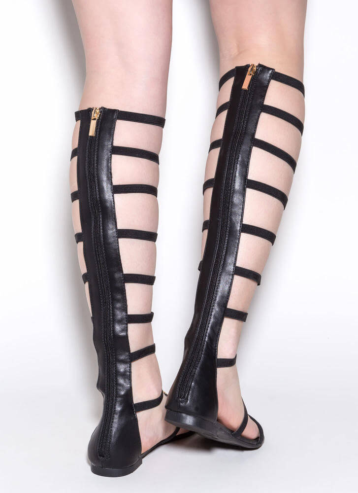 Modern Masterpiece Gladiator Sandals BLACK