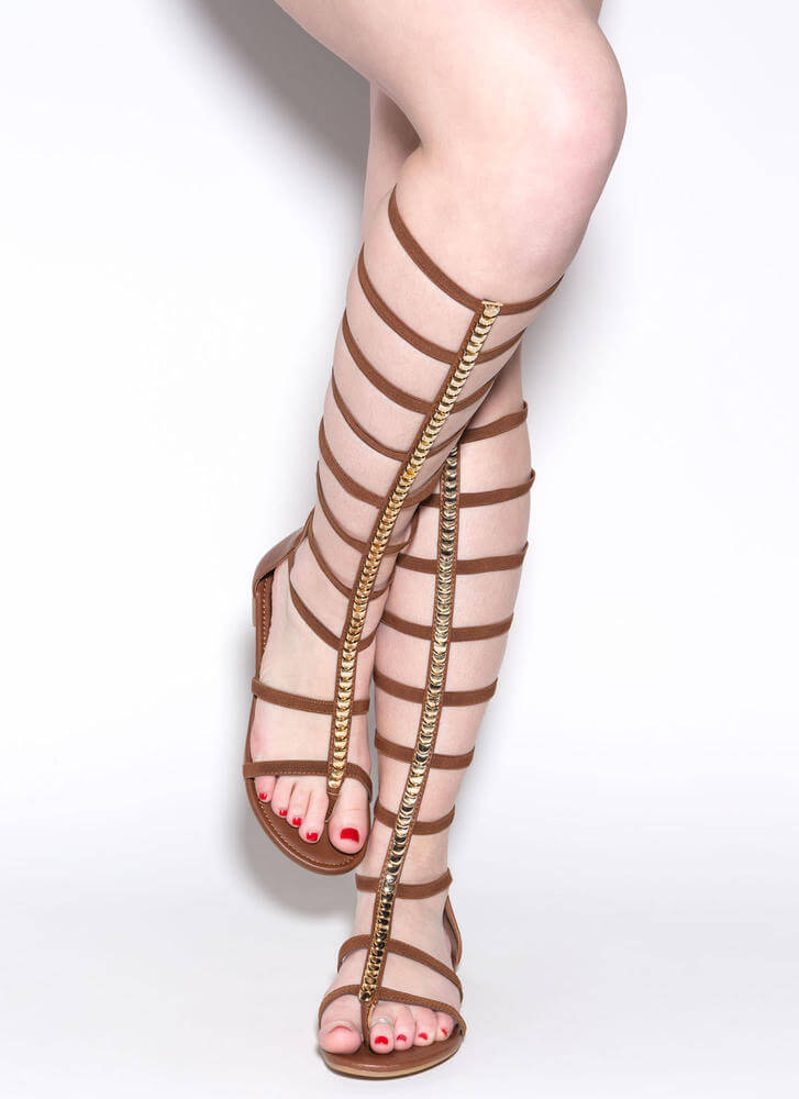 Modern Masterpiece Gladiator Sandals CHESTNUT