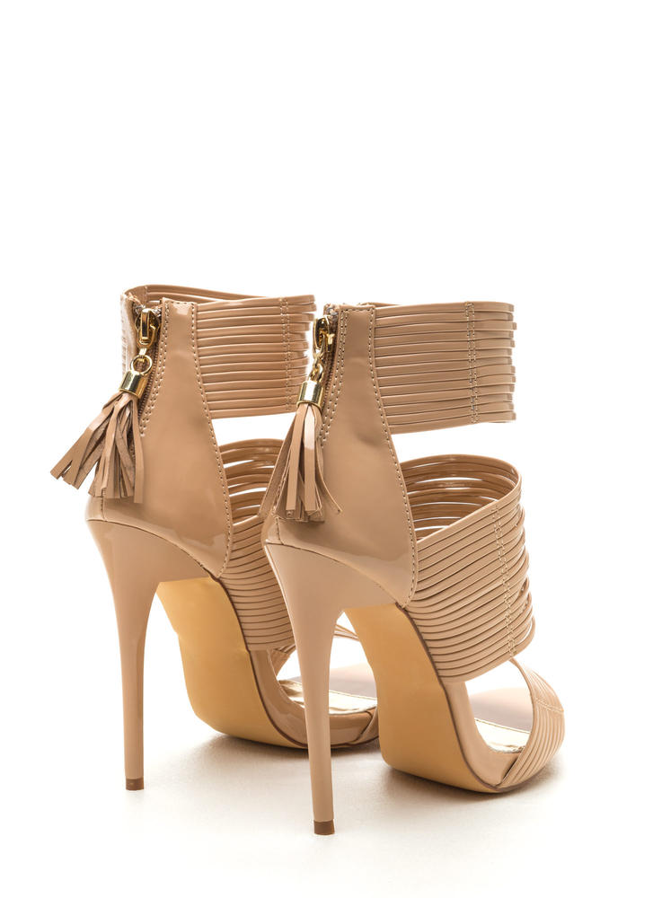 Style Savvy Strappy Heels NUDE