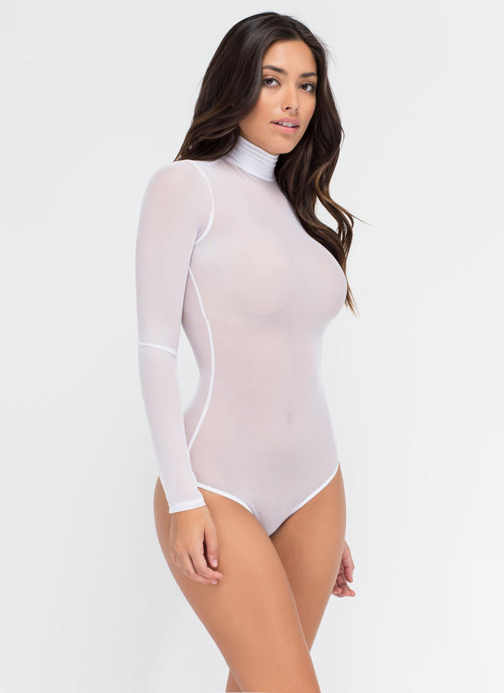 Sheer The View Bodysuit WHITE