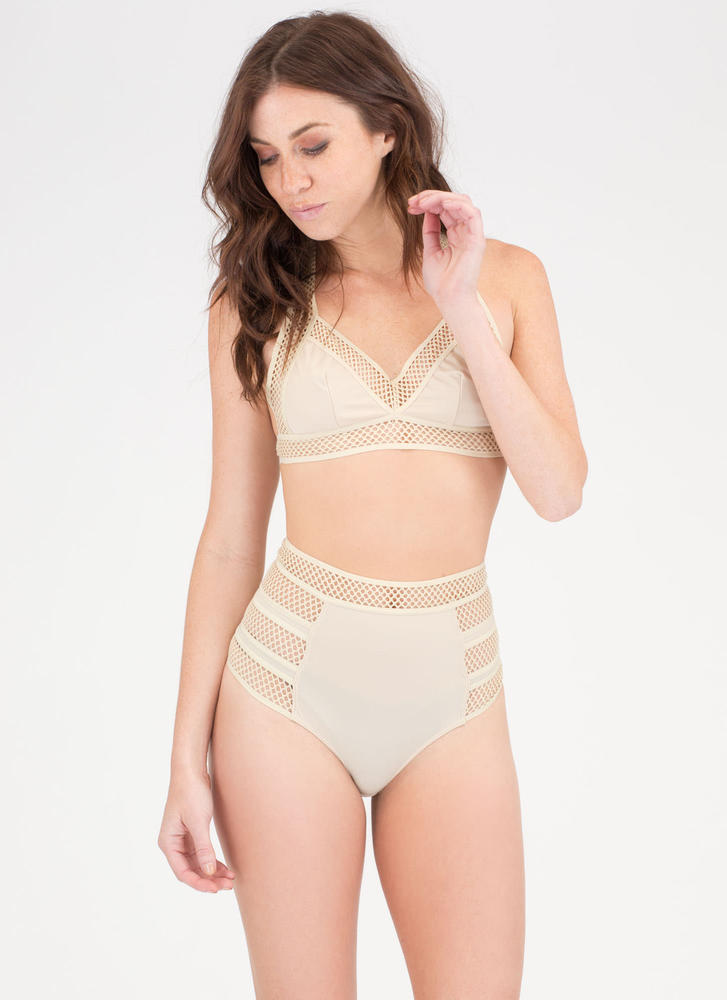 On The Bright Side T-Strap Bikini SAND (Final Sale)